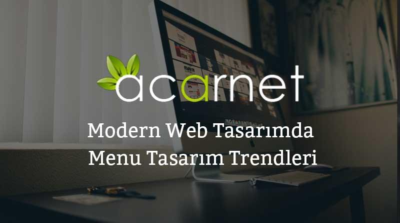 Modern Web Tasarımda Menu Tasarım Trendleri
